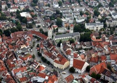 Innenstadt mit Blaserturm, Frauentor und Liebfrauenkirche