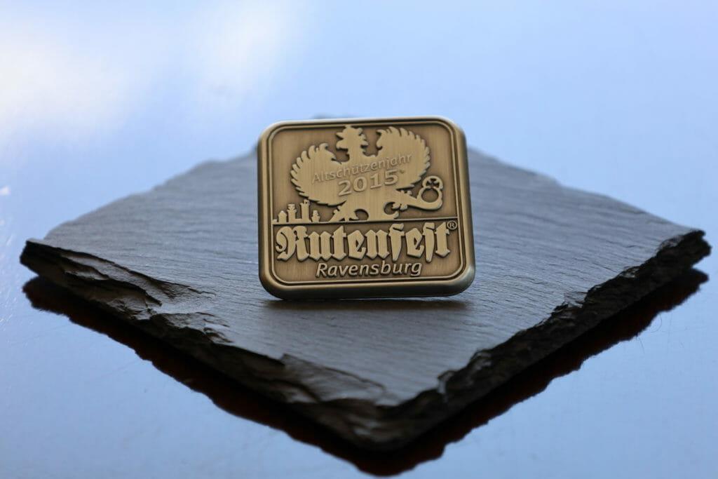 Plakette Adlerschießen Ravensburger Rutenfest - 2015 - Altschützenjahr